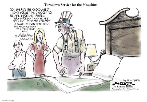 Cartoonist Jeff Danziger  Jeff Danziger's Editorial Cartoons 2017-09-23 wealthy