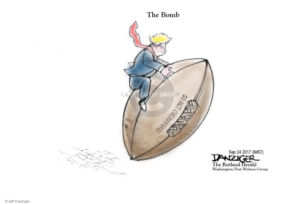 Cartoonist Jeff Danziger  Jeff Danziger's Editorial Cartoons 2017-09-25 nuclear weapon