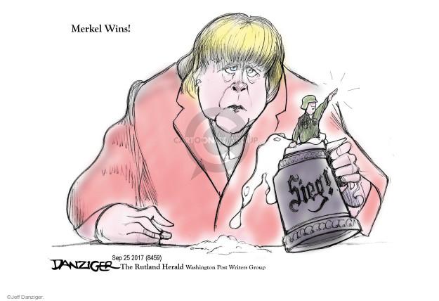 Cartoonist Jeff Danziger  Jeff Danziger's Editorial Cartoons 2017-09-26 victory