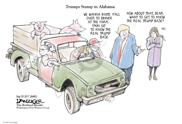 Cartoonist Jeff Danziger  Jeff Danziger's Editorial Cartoons 2017-09-27 endorsement