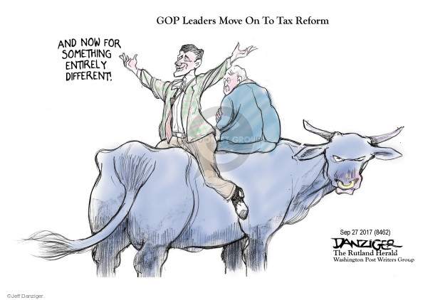 GOP Leaders Move On To Tax Reform. And now for something entirely different!