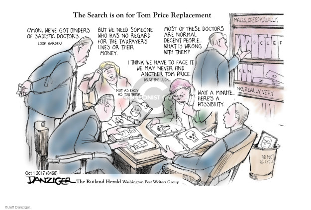 Cartoonist Jeff Danziger  Jeff Danziger's Editorial Cartoons 2017-10-03 do