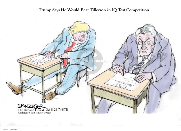 Trump Says He Would Beat Tillerson in IQ Test Competition. IQ Test.