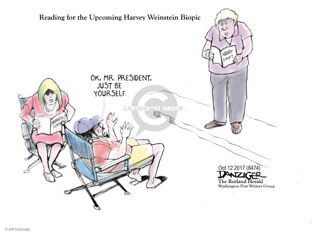 Cartoonist Jeff Danziger  Jeff Danziger's Editorial Cartoons 2017-10-13 sexual