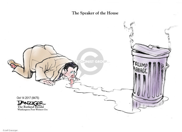 Cartoonist Jeff Danziger  Jeff Danziger's Editorial Cartoons 2017-10-16 garbage