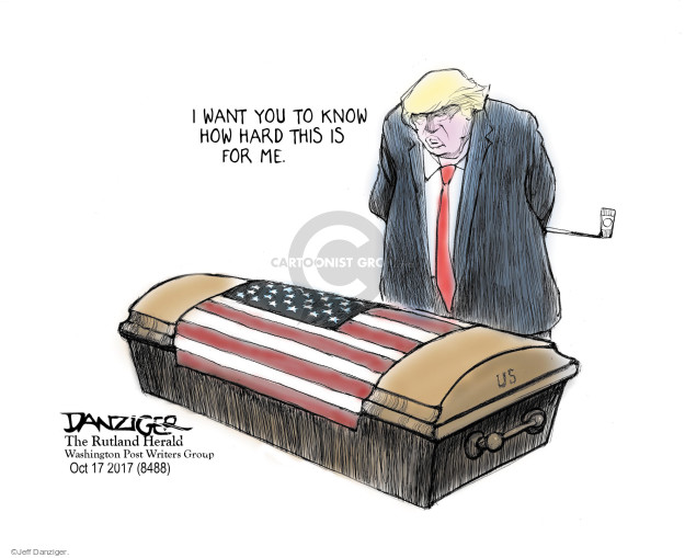 Cartoonist Jeff Danziger  Jeff Danziger's Editorial Cartoons 2017-10-18 David
