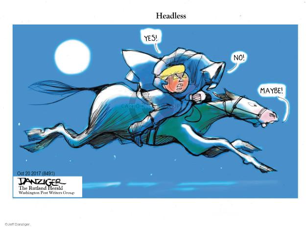 Cartoonist Jeff Danziger  Jeff Danziger's Editorial Cartoons 2017-10-21 Halloween