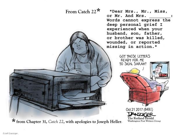 Jeff Danziger  Jeff Danziger's Editorial Cartoons 2017-10-22 Johnson