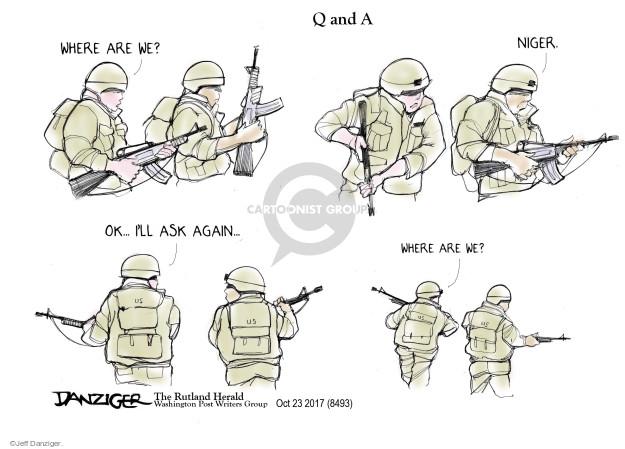 Cartoonist Jeff Danziger  Jeff Danziger's Editorial Cartoons 2017-10-23 international relations
