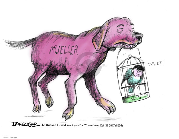 Cartoonist Jeff Danziger  Jeff Danziger's Editorial Cartoons 2017-11-02 investigate