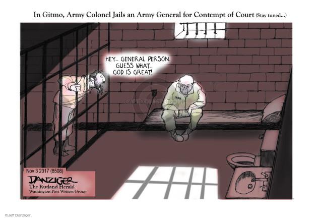 Cartoonist Jeff Danziger  Jeff Danziger's Editorial Cartoons 2017-11-05 person