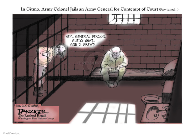 Cartoonist Jeff Danziger  Jeff Danziger's Editorial Cartoons 2017-11-05 guess