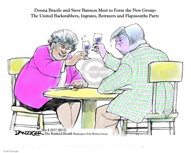 Donna Brazile and Steve Bannon Meet to Form the New Group: The United Backstabbers, Ingrates, Betrayers and Flapmouths Party.