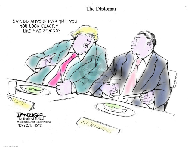 Cartoonist Jeff Danziger  Jeff Danziger's Editorial Cartoons 2017-11-10 do
