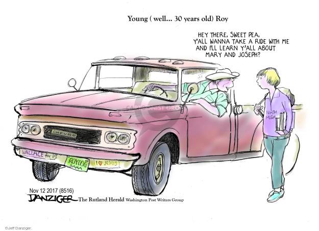 Cartoonist Jeff Danziger  Jeff Danziger's Editorial Cartoons 2017-11-13 republican candidate