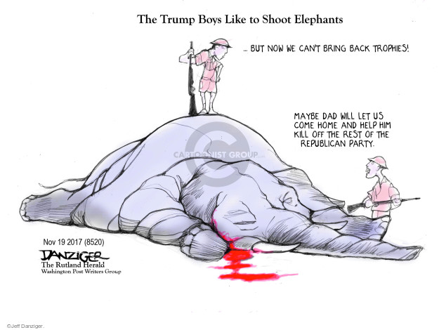 Cartoonist Jeff Danziger  Jeff Danziger's Editorial Cartoons 2017-11-19 threaten