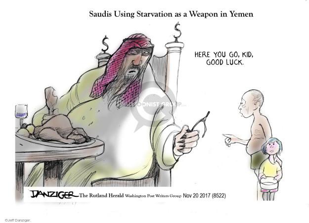 Jeff Danziger  Jeff Danziger's Editorial Cartoons 2017-11-20 weapon