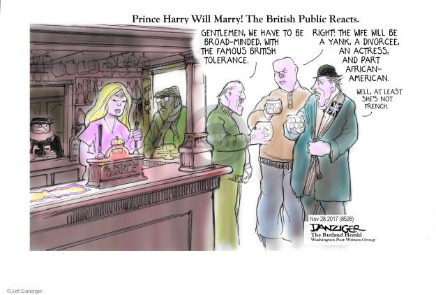 Cartoonist Jeff Danziger  Jeff Danziger's Editorial Cartoons 2017-11-28 England
