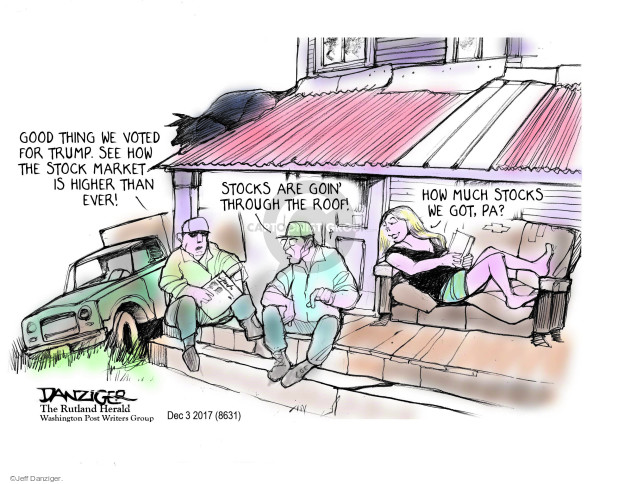 Cartoonist Jeff Danziger  Jeff Danziger's Editorial Cartoons 2017-12-05 roof
