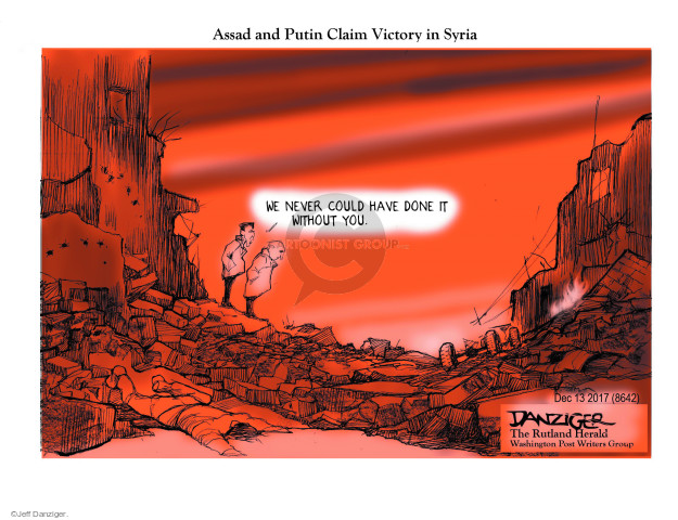 Cartoonist Jeff Danziger  Jeff Danziger's Editorial Cartoons 2017-12-14 al-Assad