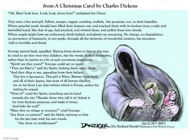 Cartoonist Jeff Danziger  Jeff Danziger's Editorial Cartoons 2017-12-24 devil