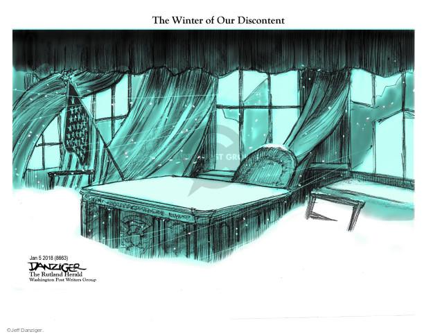 Cartoonist Jeff Danziger  Jeff Danziger's Editorial Cartoons 2018-01-07 oval
