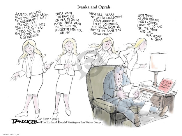 Cartoonist Jeff Danziger  Jeff Danziger's Editorial Cartoons 2018-01-13 best