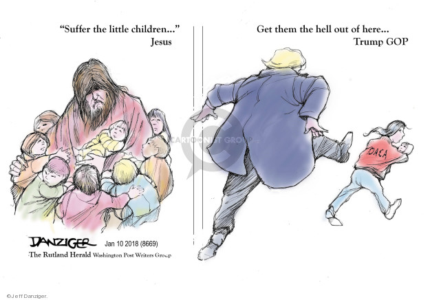 Cartoonist Jeff Danziger  Jeff Danziger's Editorial Cartoons 2018-01-14 religion