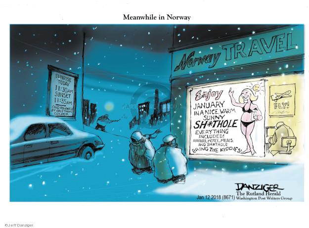 Cartoonist Jeff Danziger  Jeff Danziger's Editorial Cartoons 2018-01-15 Norway