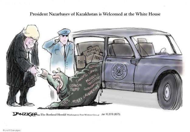 Jeff Danziger  Jeff Danziger's Editorial Cartoons 2018-01-19 autocrat