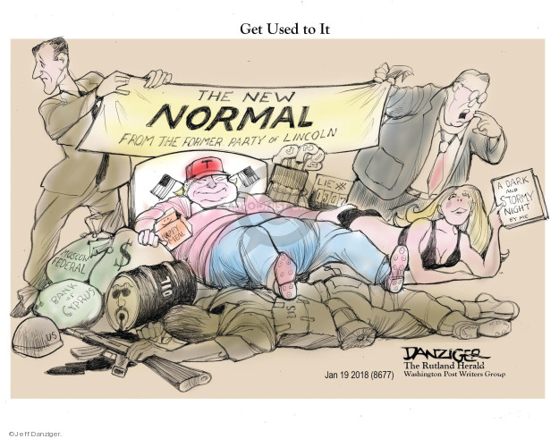 Cartoonist Jeff Danziger  Jeff Danziger's Editorial Cartoons 2018-01-21 United States Military