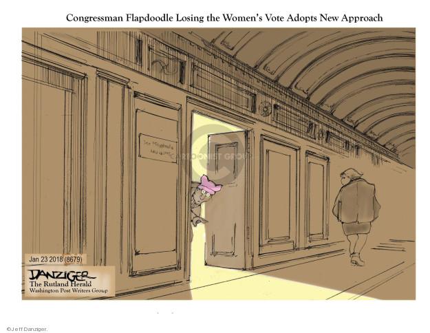 Jeff Danziger  Jeff Danziger's Editorial Cartoons 2018-01-23 congresswoman