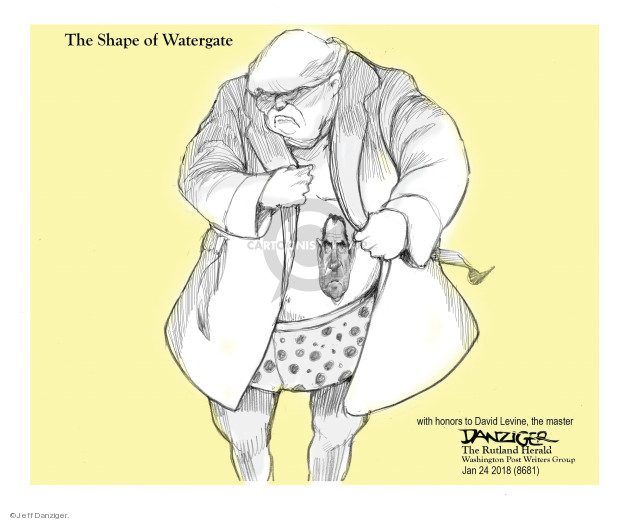 Cartoonist Jeff Danziger  Jeff Danziger's Editorial Cartoons 2018-01-29 investigate