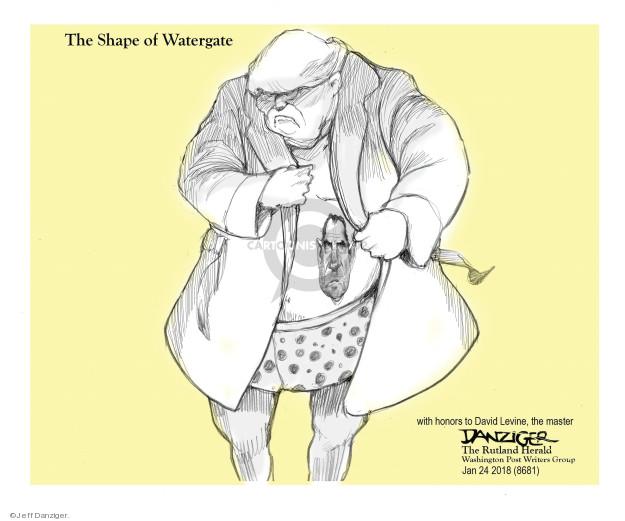 Cartoonist Jeff Danziger  Jeff Danziger's Editorial Cartoons 2018-01-29 Donald Trump Richard Nixon