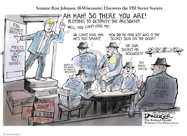 Cartoonist Jeff Danziger  Jeff Danziger's Editorial Cartoons 2018-01-30 plot