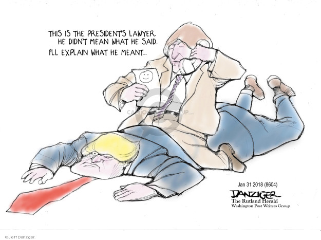 Cartoonist Jeff Danziger  Jeff Danziger's Editorial Cartoons 2018-01-31 explain