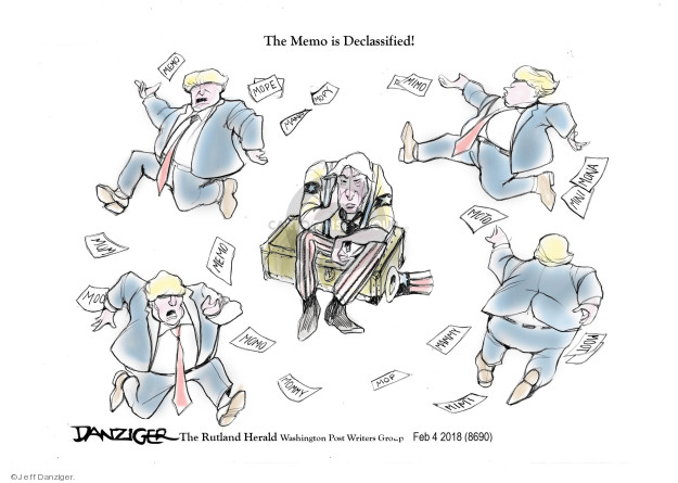 Cartoonist Jeff Danziger  Jeff Danziger's Editorial Cartoons 2018-02-05 investigate
