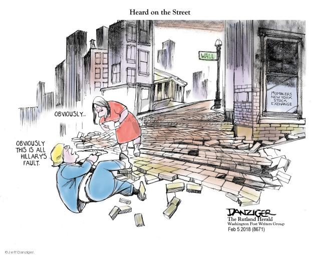 Jeff Danziger  Jeff Danziger's Editorial Cartoons 2018-02-07 Clinton administration