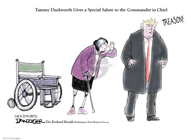 Cartoonist Jeff Danziger  Jeff Danziger's Editorial Cartoons 2018-02-08 chief