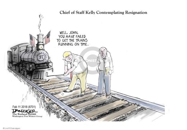 Cartoonist Jeff Danziger  Jeff Danziger's Editorial Cartoons 2018-02-12 John Kelly