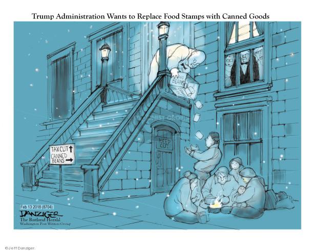 Cartoonist Jeff Danziger  Jeff Danziger's Editorial Cartoons 2018-02-14 food