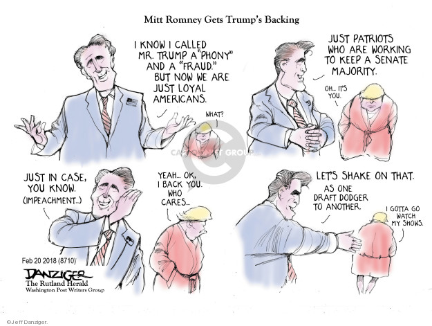 Cartoonist Jeff Danziger  Jeff Danziger's Editorial Cartoons 2018-02-21 endorsement