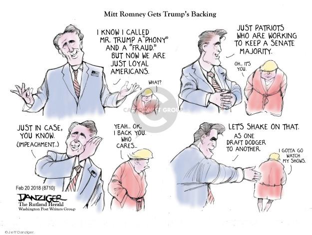 Cartoonist Jeff Danziger  Jeff Danziger's Editorial Cartoons 2018-02-21 conservative