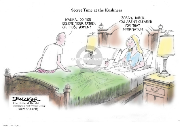 Cartoonist Jeff Danziger  Jeff Danziger's Editorial Cartoons 2018-03-01 information