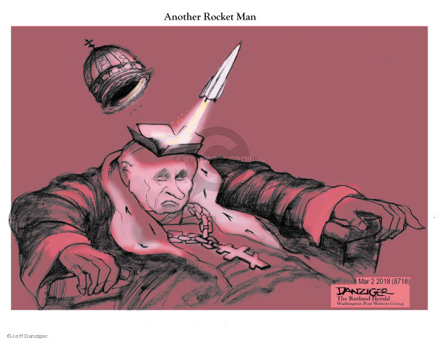 Cartoonist Jeff Danziger  Jeff Danziger's Editorial Cartoons 2018-03-03 nuclear weapon
