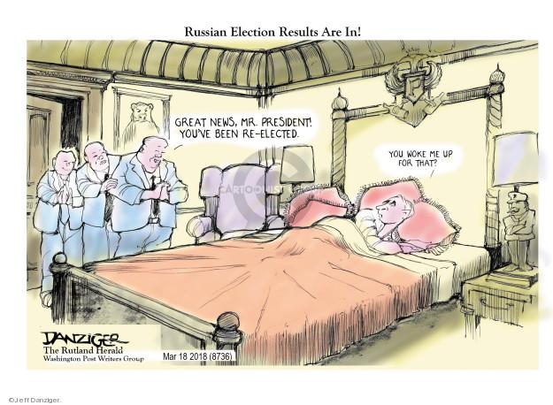 Jeff Danziger  Jeff Danziger's Editorial Cartoons 2018-03-19 election result