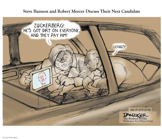 Cartoonist Jeff Danziger  Jeff Danziger's Editorial Cartoons 2018-03-22 rally