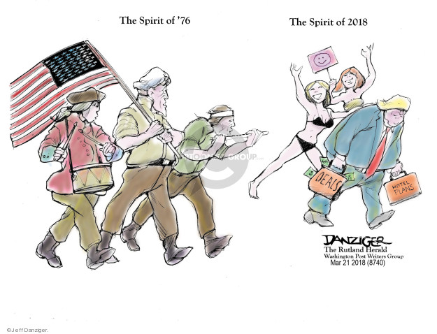 Cartoonist Jeff Danziger  Jeff Danziger's Editorial Cartoons 2018-03-23 plan