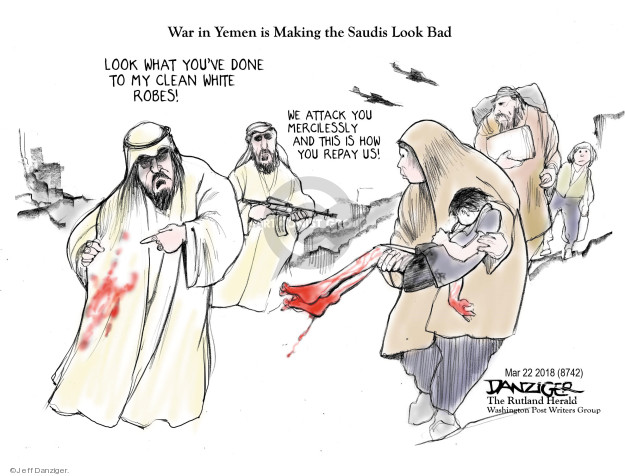 Cartoonist Jeff Danziger  Jeff Danziger's Editorial Cartoons 2018-03-24 Arabia