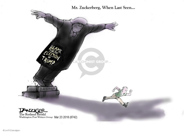 Cartoonist Jeff Danziger  Jeff Danziger's Editorial Cartoons 2018-03-26 information